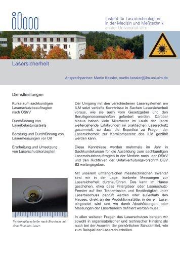 Lasersicherheit - ILM