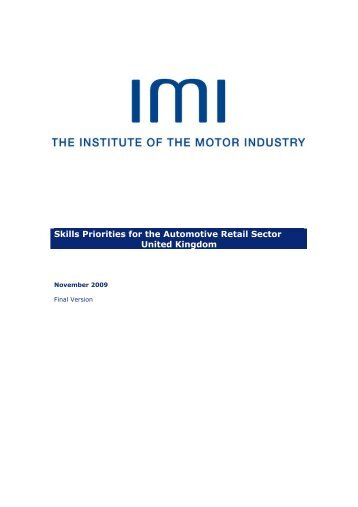 Section 4 - Institute of the Motor Industry