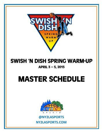 2015 Swish FULL Schedule