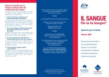 IL SANGUE - health.vic.gov.au