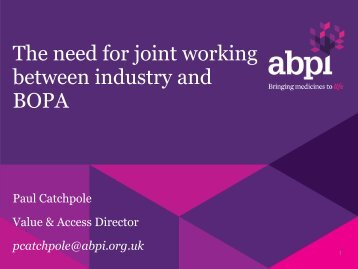 Joint working - Paul Catchpole - BOPA