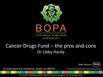Cancer Drugs Fund – the pros and cons - BOPA