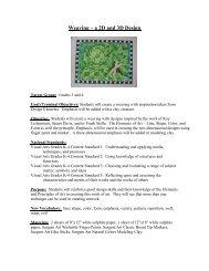 Weaving – a 2D and 3D Design - Sargent Art