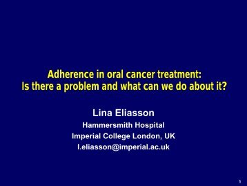 Adherence in oral cancer treatment: Is there a problem and ... - BOPA