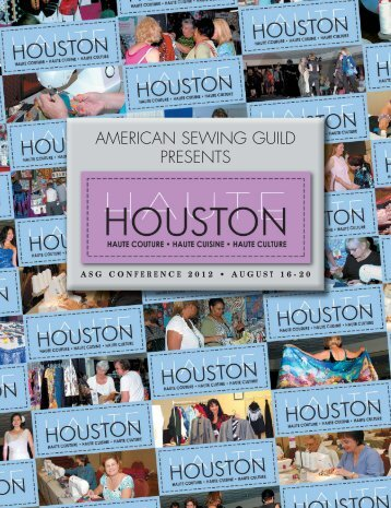 It's Houston! - The American Sewing Guild