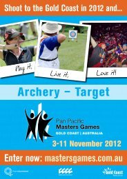 mastersgames.com.au Shoot to the Gold Coast in 2012 and...