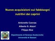 Nuove acquisizioni sui fabbisogni nutritivi dei caprini - Scienze ...