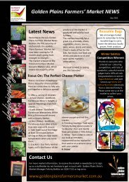 Farmers' Market Newsletter July 2011.pub - Golden Plains Shire