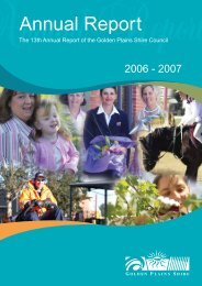 Annual Report 2006-07 - Golden Plains Shire