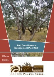 Red Gum Reserve Management Plan 2009 - Golden Plains Shire
