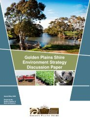 Golden Plains Shire Environment Strategy Discussion Paper
