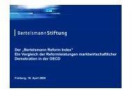 """Der """"Bertelsmann Reform Index"""" Ein Vergleich der ..."""