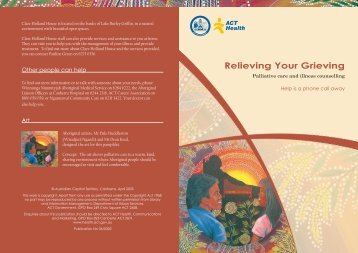 Relieving Your Grieving: Palliative care and illness ... - CareSearch