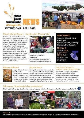 April 2013 Market Newsletter - Golden Plains Shire