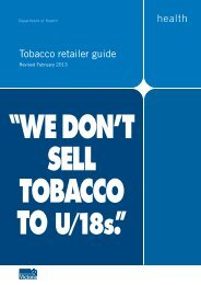 Tobacco Retailer Guide (pdf) - Golden Plains Shire