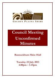 Council Meeting Unconfirmed Minutes - Golden Plains Shire