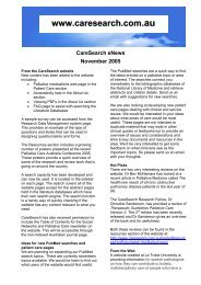 New content has been introduced into the website CareSearch ...