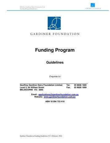 Guidelines - Gardiner Foundation