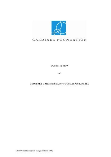 Constitution - Gardiner Foundation