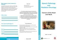 Speech Pathology and Radiation Oncology - Cancer Learning