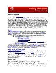 Fundamentals of Oncology learning activities - Cancer Learning