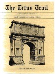 THE ARCH OF TITUS - Latin American Studies