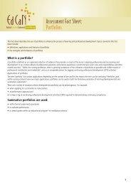 Assessment Fact Sheet: Portfolios - EdCaN