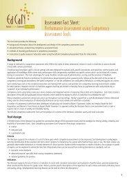Assessment Fact Sheet: Performance Assessment using ... - EdCaN