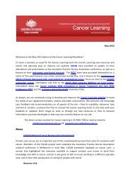 May 2012 Welcome to the May 2012 edition of the Cancer Learning ...