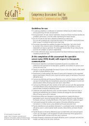 Competency Assessment Tool for Therapeutic ... - Cancer Learning