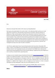 April 2012 Dear Welcome to the April 2012 ... - Cancer Learning
