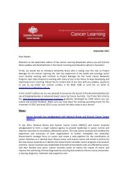 September 2011 Dear Reader, Welcome to the ... - Cancer Learning