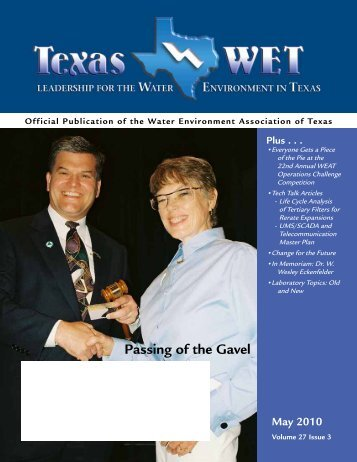 Passing of the Gavel - Water Environment Association of Texas