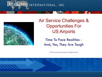 Air Service Challenges & Opportunities For US Airports - Pacific Wings