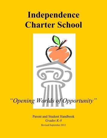 Parent & Student Handbook - Independence Charter School