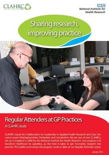 Regular Attenders at GP Practices - CLAHRC-NDL - NIHR