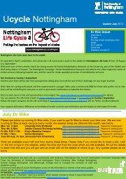 Ucycle Nottingham - University of Nottingham