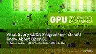 What Every CUDA Programmer Should Know About Opengl