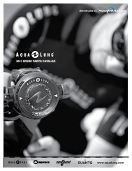 Aqua Lung Spare part catalogue 2011 - Aqua Master