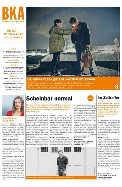 Berner Kulturagenda 2015 N° 14/15