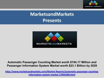 Automatic Passenger Counting Market