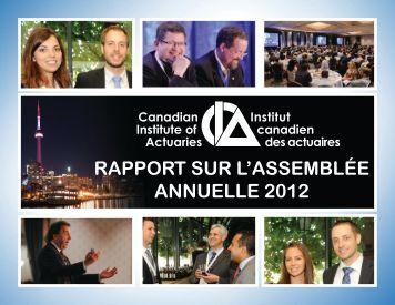 RappoRt suR l'assemblée annuelle 2012