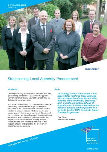 Streamlining Local Authority Procurement - East Midlands ...