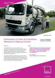 Performance of Client and Contractor Measured in Highway Contract