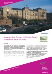 Measured Term Contract for Building Repairs, Maintenance and ...