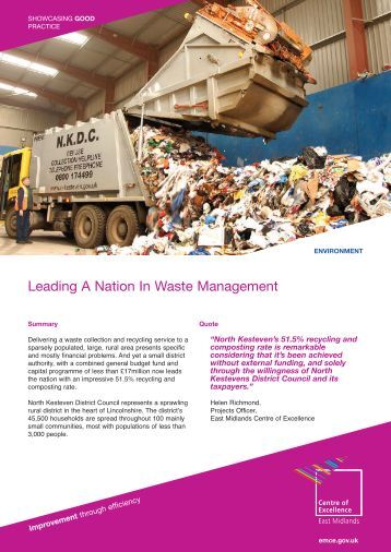 NK Leading A Nation In Waste Management - East Midlands Councils
