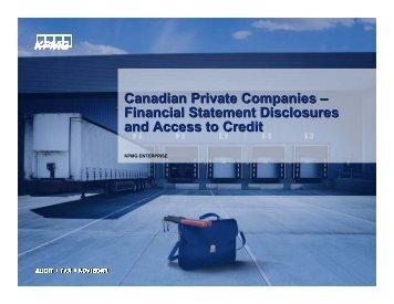 Canadian Private Companies – Financial Statement ... - I.E. Canada