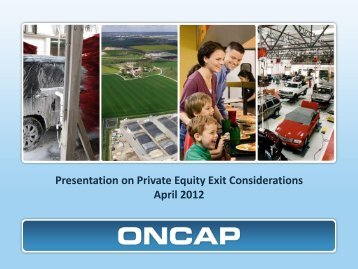 Presentation on Private Equity Exit Considerations April 2012