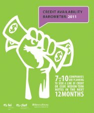 Credit availability barometer - FEI Canada