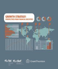 Growth strategy: Perspectives from financial executives - FEI Canada